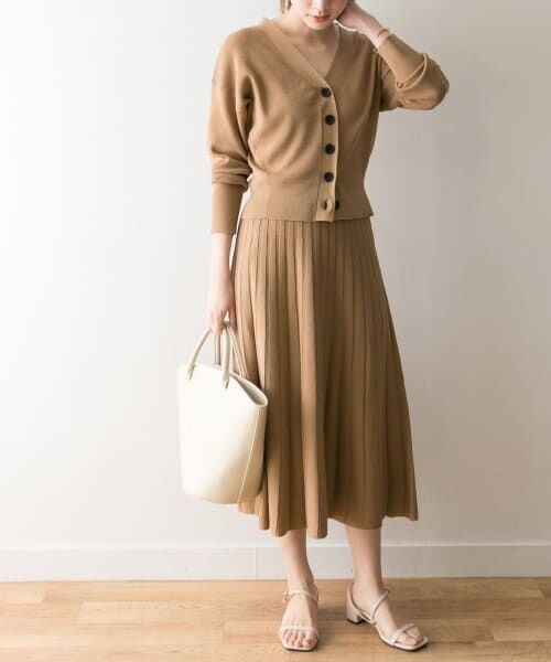 URBAN RESEARCH / アーバンリサーチ ワンピース   ニットセットアップ(CAMEL.BEG)