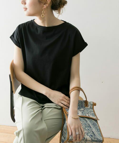 URBAN RESEARCH / アーバンリサーチ Tシャツ   ペルビアンコットンTシャツ(BLACK)