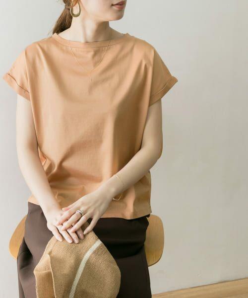 URBAN RESEARCH / アーバンリサーチ Tシャツ   ペルビアンコットンTシャツ(CORAL)