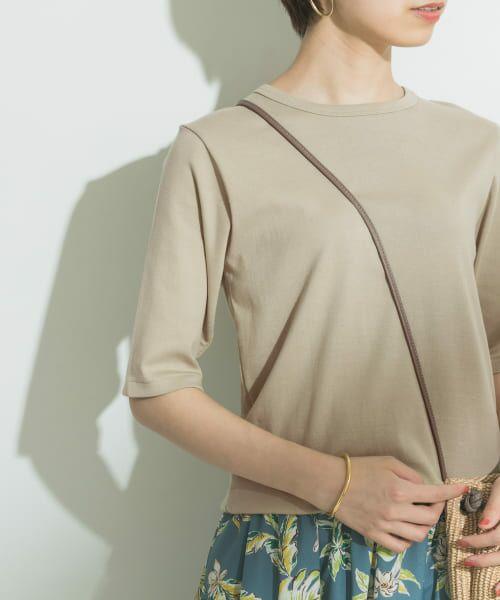 URBAN RESEARCH / アーバンリサーチ Tシャツ | フライスTシャツ(L.KHAKI)