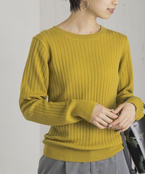 URBAN RESEARCH / アーバンリサーチ ニット・セーター | コンパクトリブニット(長袖) | 詳細10