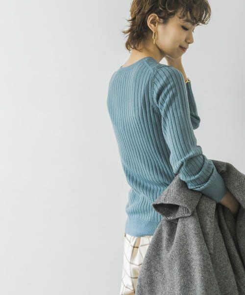 URBAN RESEARCH / アーバンリサーチ ニット・セーター | コンパクトリブニット(長袖) | 詳細24