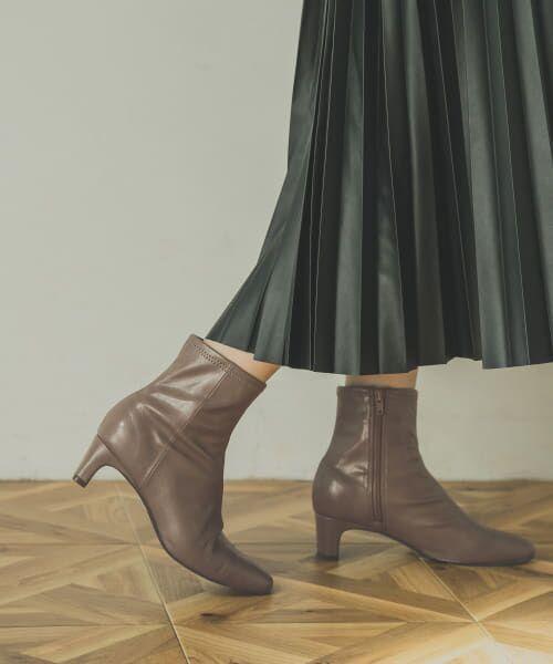 URBAN RESEARCH / アーバンリサーチ ブーツ(ショート丈) | ストレッチショートブーツ(CHARCOAL)