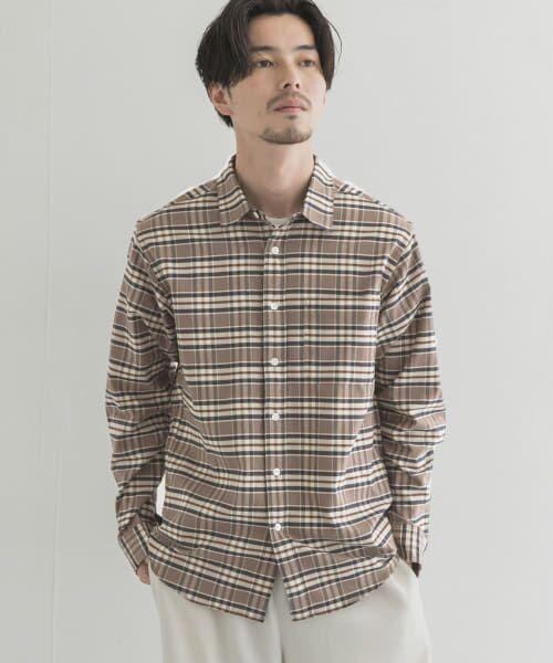 URBAN RESEARCH / アーバンリサーチ シャツ・ブラウス | シャギー起毛シャツ(BRN/CHECK)