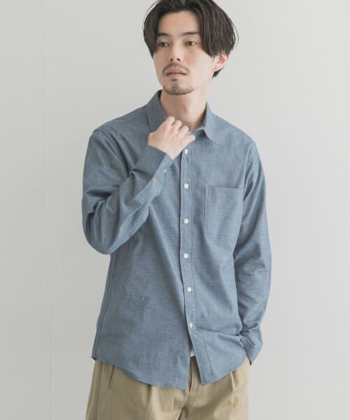 URBAN RESEARCH / アーバンリサーチ シャツ・ブラウス | シャギー起毛シャツ(BLUE)