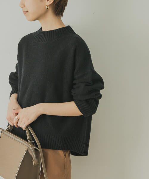 URBAN RESEARCH / アーバンリサーチ ニット・セーター | ラムウールショート丈ニット(BLACK)
