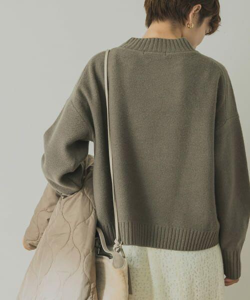 URBAN RESEARCH / アーバンリサーチ ニット・セーター | ラムウールショート丈ニット | 詳細4