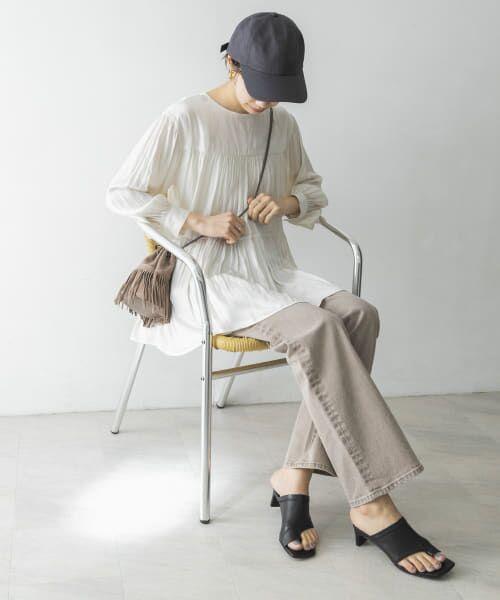 URBAN RESEARCH / アーバンリサーチ シャツ・ブラウス   ヴィンテージサテンティアードギャザーブラウス   詳細17