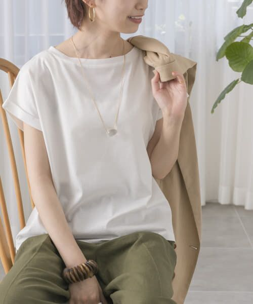 URBAN RESEARCH / アーバンリサーチ Tシャツ   ペルビアンコットンTシャツ(WHITE)