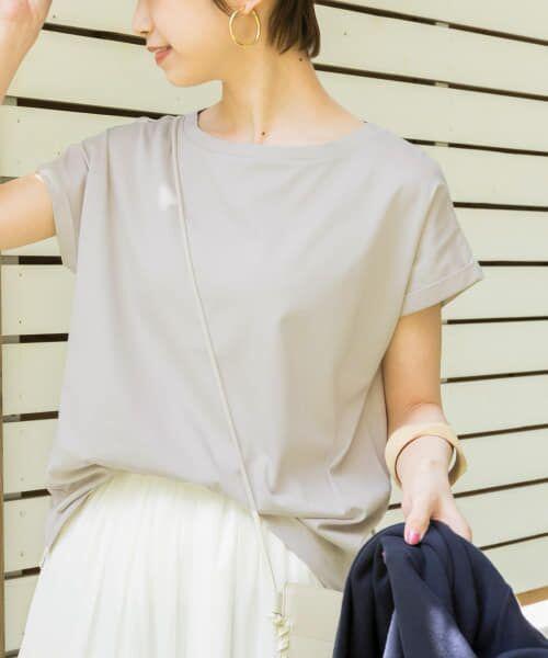URBAN RESEARCH / アーバンリサーチ Tシャツ   ペルビアンコットンTシャツ(TAUPE)