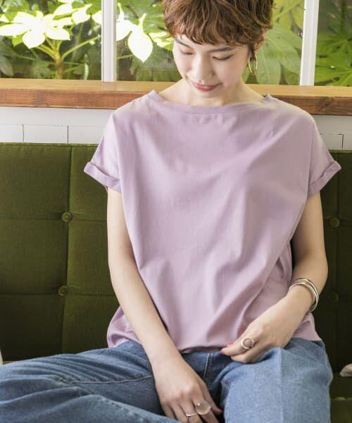URBAN RESEARCH / アーバンリサーチ Tシャツ   ペルビアンコットンTシャツ(LAVENDER)