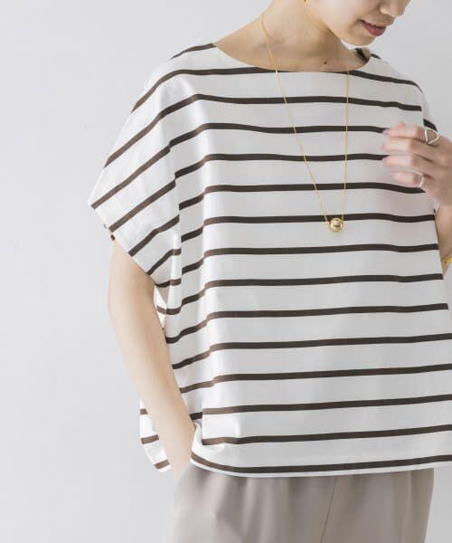 URBAN RESEARCH / アーバンリサーチ Tシャツ | 【WEB限定】ワイドボーダーカットソープルオーバー | 詳細12
