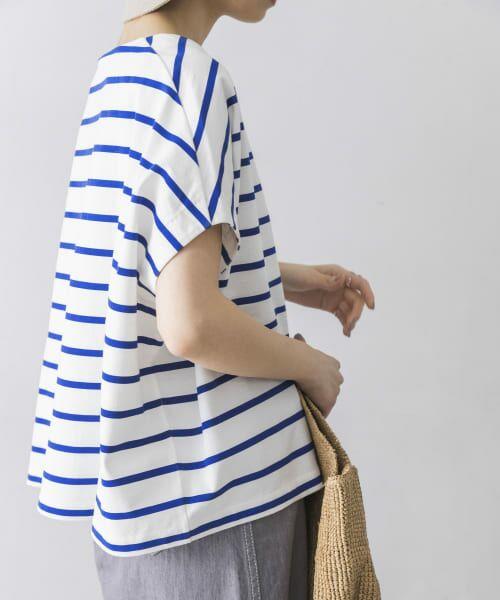 URBAN RESEARCH / アーバンリサーチ Tシャツ | 【WEB限定】ワイドボーダーカットソープルオーバー | 詳細16