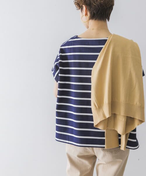 URBAN RESEARCH / アーバンリサーチ Tシャツ | 【WEB限定】ワイドボーダーカットソープルオーバー | 詳細9