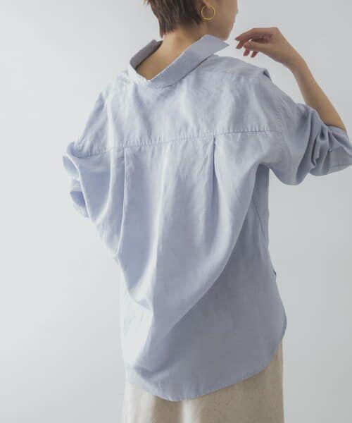 URBAN RESEARCH / アーバンリサーチ シャツ・ブラウス   TECH(UVカット・接触冷感・吸水速乾)+抗菌 機能付 高機能リネンオーバーシャツ(SAX)