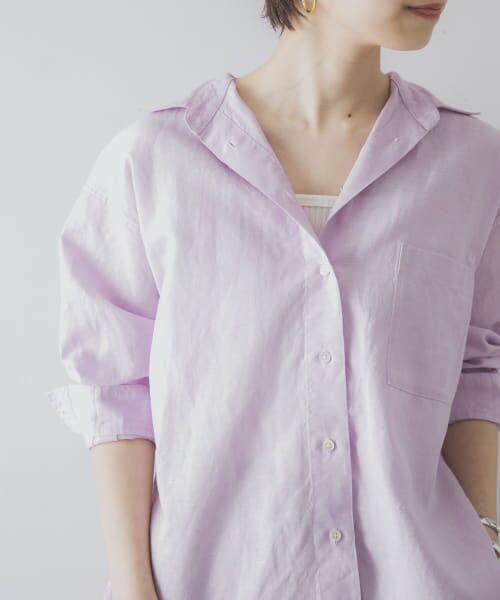 URBAN RESEARCH / アーバンリサーチ シャツ・ブラウス   TECH(UVカット・接触冷感・吸水速乾)+抗菌 機能付 高機能リネンオーバーシャツ   詳細18