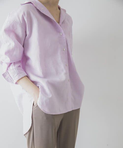 URBAN RESEARCH / アーバンリサーチ シャツ・ブラウス   TECH(UVカット・接触冷感・吸水速乾)+抗菌 機能付 高機能リネンオーバーシャツ   詳細22