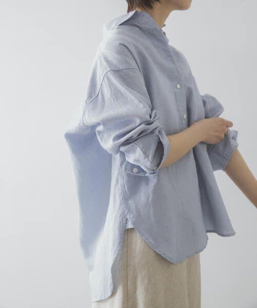 URBAN RESEARCH / アーバンリサーチ シャツ・ブラウス   TECH(UVカット・接触冷感・吸水速乾)+抗菌 機能付 高機能リネンオーバーシャツ   詳細7