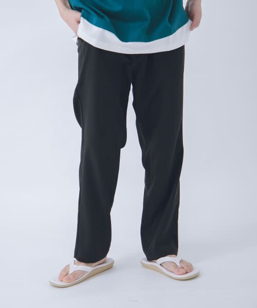 URBAN RESEARCH / アーバンリサーチ その他パンツ | URBAN RESEARCH iD LINEN LIKE TAPERED PANTS(BLACK)