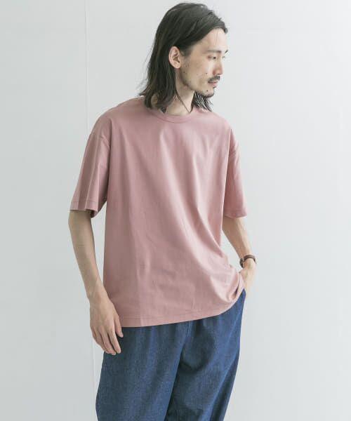 URBAN RESEARCH / アーバンリサーチ Tシャツ   シルケットポンチTシャツ(SMOKE PINK)