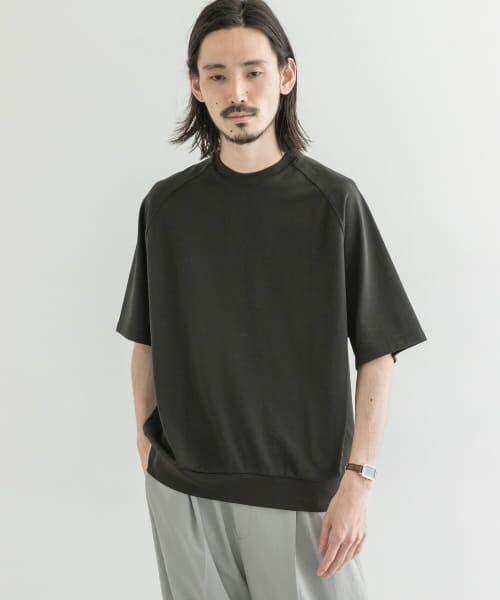 URBAN RESEARCH / アーバンリサーチ Tシャツ | T/CプレーティングリラックスTシャツ(BLACK)