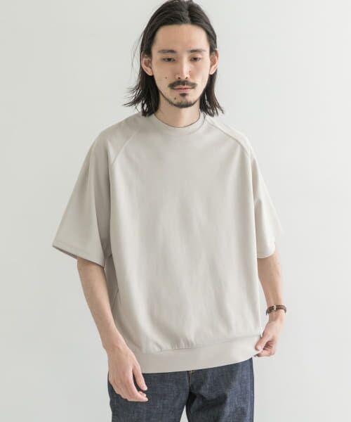 URBAN RESEARCH / アーバンリサーチ Tシャツ | T/CプレーティングリラックスTシャツ(ICE GRAY)