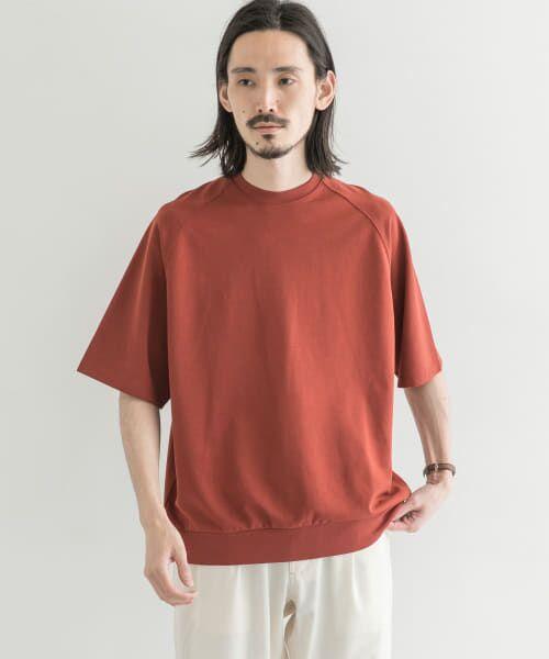 URBAN RESEARCH / アーバンリサーチ Tシャツ | T/CプレーティングリラックスTシャツ(RED WOOD)