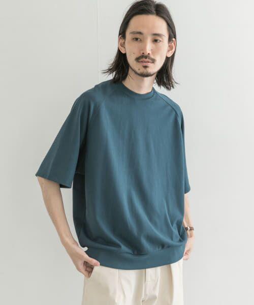 URBAN RESEARCH / アーバンリサーチ Tシャツ | T/CプレーティングリラックスTシャツ(D/GREEN)