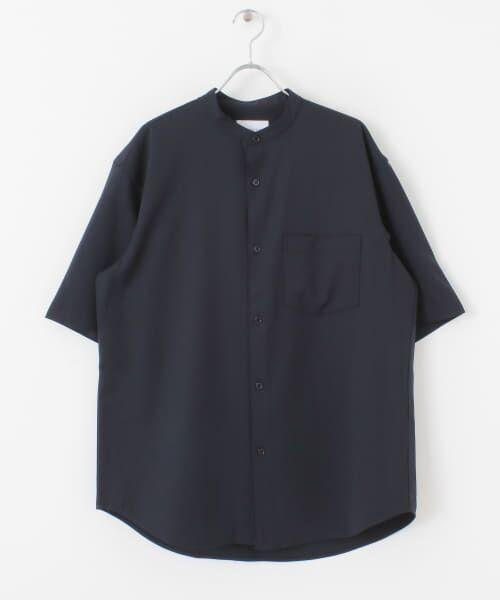 URBAN RESEARCH / アーバンリサーチ シャツ・ブラウス | WASHABLEウールショートスリーブバンドカラーシャツ | 詳細10