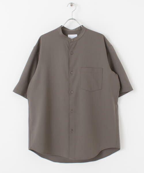 URBAN RESEARCH / アーバンリサーチ シャツ・ブラウス | WASHABLEウールショートスリーブバンドカラーシャツ | 詳細11