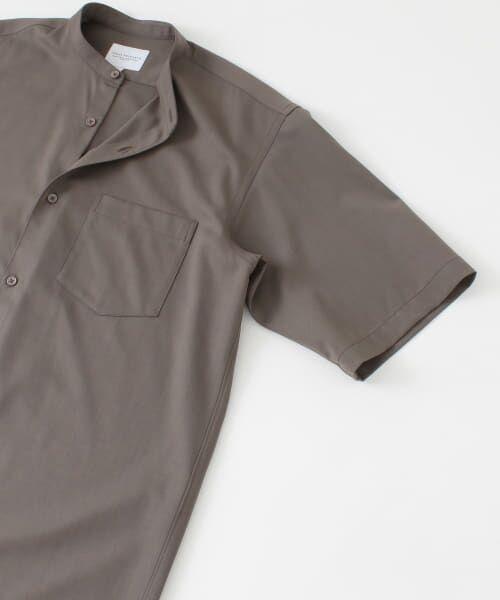 URBAN RESEARCH / アーバンリサーチ シャツ・ブラウス | WASHABLEウールショートスリーブバンドカラーシャツ | 詳細12