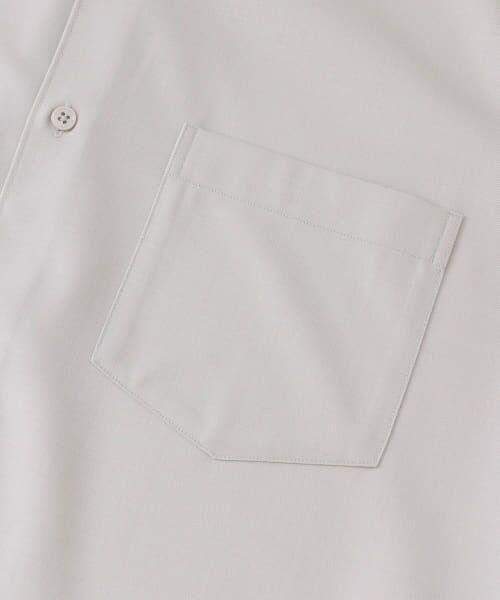 URBAN RESEARCH / アーバンリサーチ シャツ・ブラウス | WASHABLEウールショートスリーブバンドカラーシャツ | 詳細15