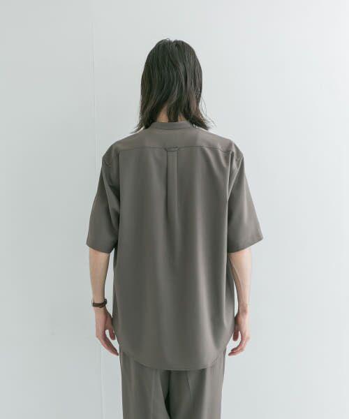 URBAN RESEARCH / アーバンリサーチ シャツ・ブラウス | WASHABLEウールショートスリーブバンドカラーシャツ | 詳細8
