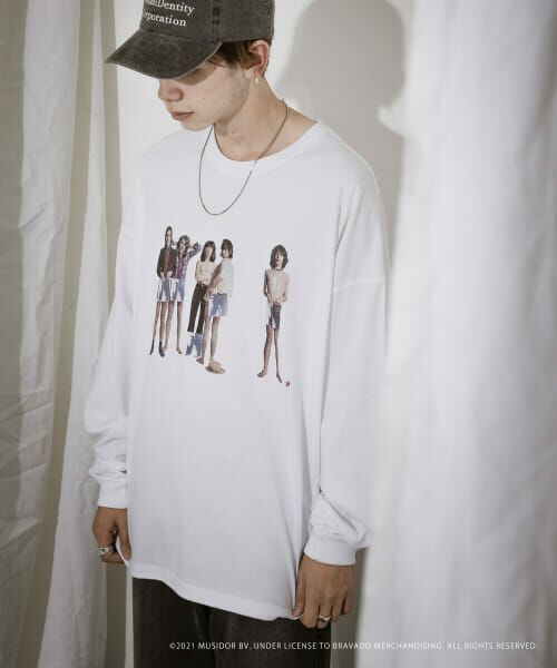 URBAN RESEARCH / アーバンリサーチ Tシャツ   URBAN RESEARCH iD ROLLING STONES LONG-SLEEVE(WHITE)