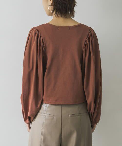 URBAN RESEARCH / アーバンリサーチ Tシャツ | ボリュームスリーブショート丈カットソー | 詳細18