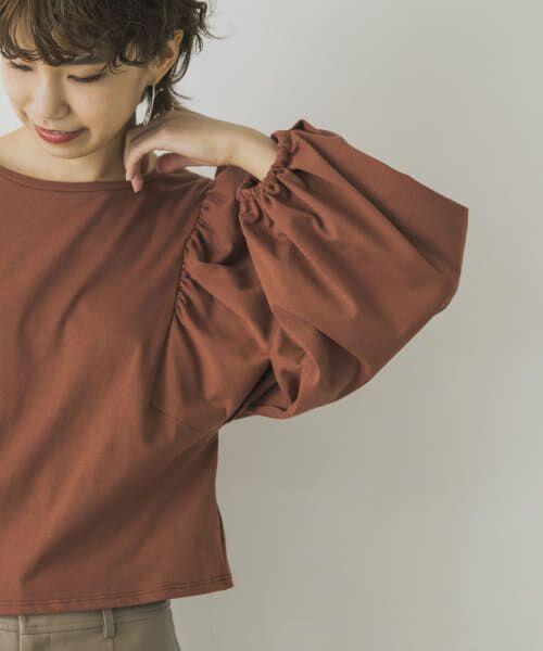 URBAN RESEARCH / アーバンリサーチ Tシャツ | ボリュームスリーブショート丈カットソー | 詳細2