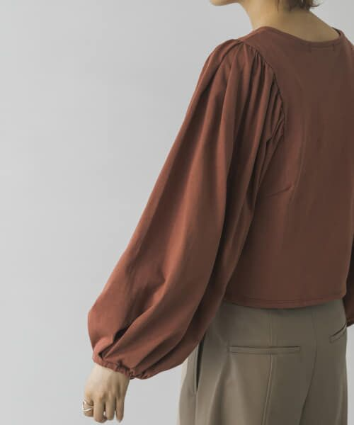 URBAN RESEARCH / アーバンリサーチ Tシャツ | ボリュームスリーブショート丈カットソー | 詳細3