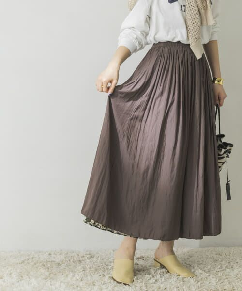 URBAN RESEARCH / アーバンリサーチ スカート   フラワープリントリバーシブルスカート   詳細15