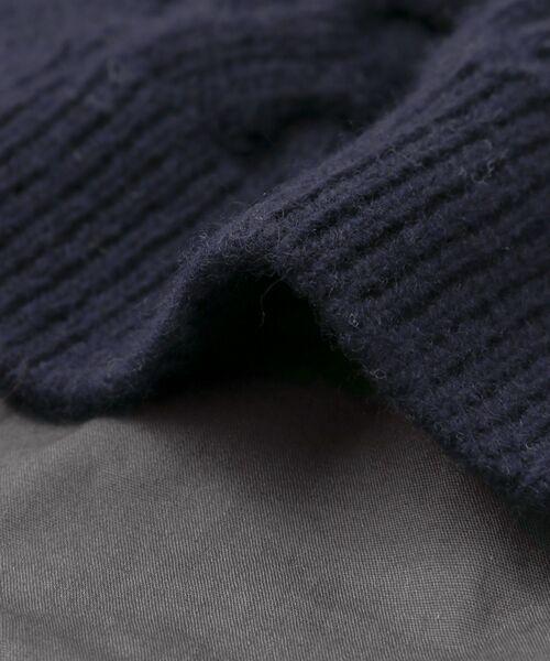 URBAN RESEARCH DOORS / アーバンリサーチ ドアーズ ニット・セーター | アラン柄バックシャツプルオーバー | 詳細17