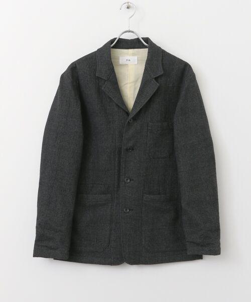 D'sh グレンチェックカバーオールジャケット
