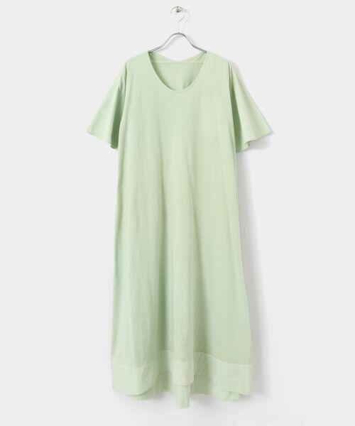 URBAN RESEARCH DOORS / アーバンリサーチ ドアーズ ワンピース | COSMIC WONDER 有機栽培綿の大きなTドレス(N.JADE)