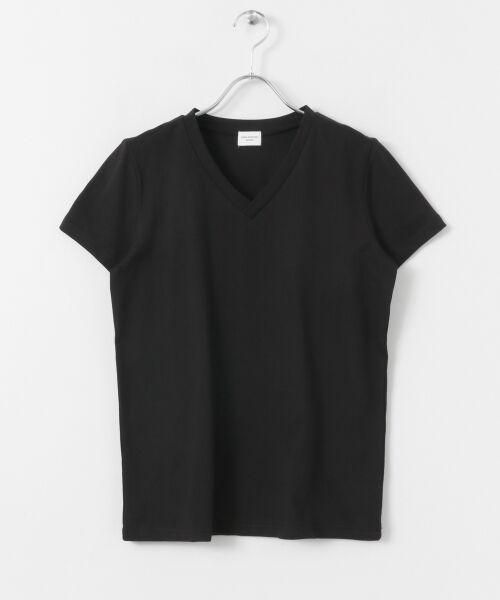 URBAN RESEARCH DOORS / アーバンリサーチ ドアーズ Tシャツ | スペインコットンVネックTシャツ | 詳細14