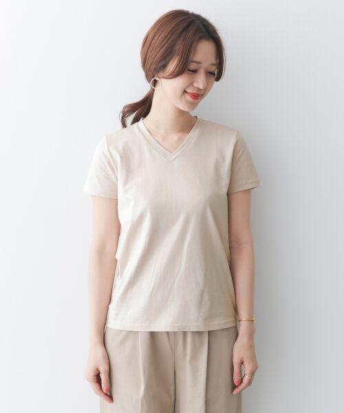 URBAN RESEARCH DOORS / アーバンリサーチ ドアーズ Tシャツ | スペインコットンVネックTシャツ | 詳細9