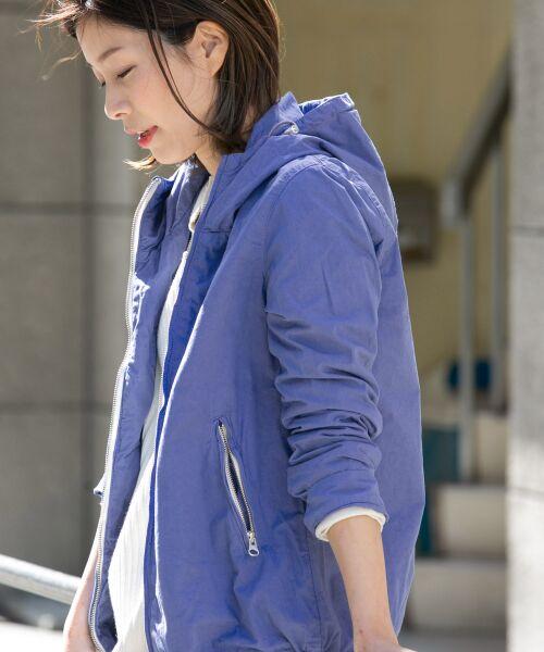 URBAN RESEARCH DOORS / アーバンリサーチ ドアーズ その他アウター | カラージップパーカー(ASH BLUE)