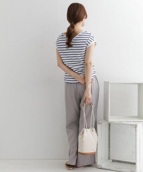 URBAN RESEARCH DOORS / アーバンリサーチ ドアーズ Tシャツ   2WAYハニカムボーダーフレンチスリーブ   詳細15