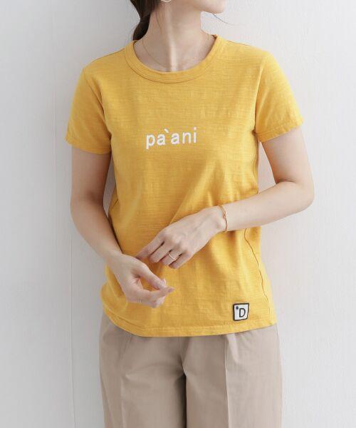 URBAN RESEARCH DOORS / アーバンリサーチ ドアーズ Tシャツ   melelana半袖Tシャツ(イエロー)