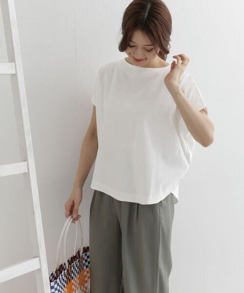 URBAN RESEARCH DOORS / アーバンリサーチ ドアーズ Tシャツ   バックタックワイドカットソー   詳細1