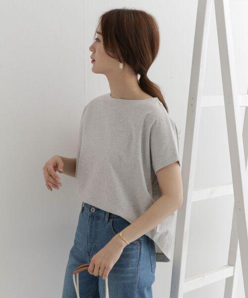 URBAN RESEARCH DOORS / アーバンリサーチ ドアーズ Tシャツ   バックタックワイドカットソー   詳細8