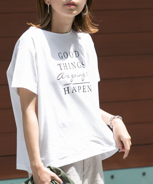 URBAN RESEARCH DOORS / アーバンリサーチ ドアーズ Tシャツ   GOOD THINGS T-SHIRTS(WHITE)