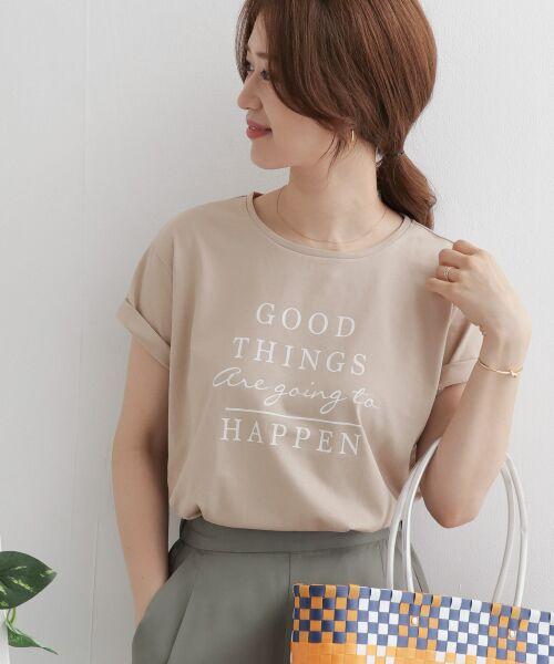 URBAN RESEARCH DOORS / アーバンリサーチ ドアーズ Tシャツ   GOOD THINGS T-SHIRTS(BEIGE)